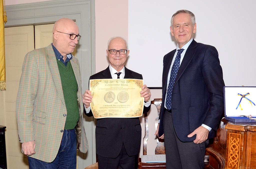 La Medaglia Commandiniana a William René Shea