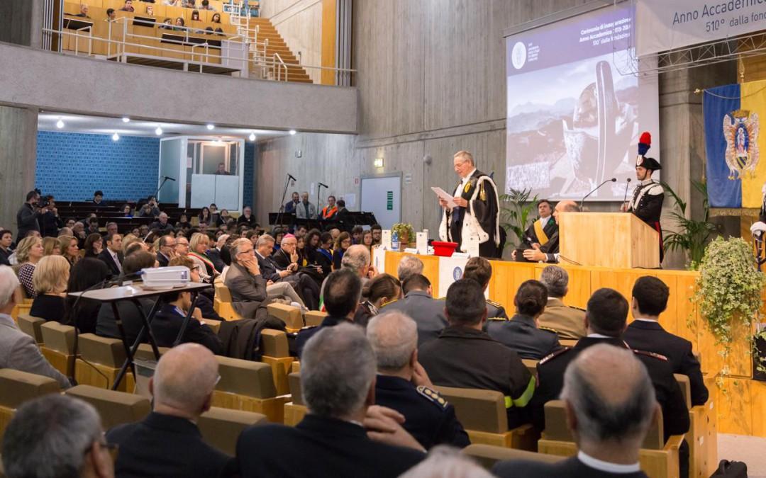 L'Ateneo inaugura l'anno accademico 2015-2016. Il discorso del Rettore