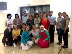 La Professoressa Laura Baratin con i rappresentanti delle Università partner