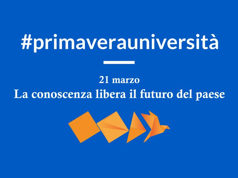 Per una nuova primavera delle Università: gli eventi della Carlo Bo