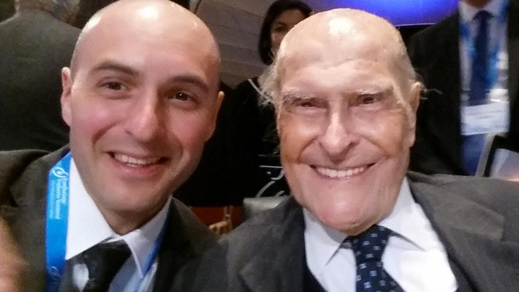 Stefano Amatori con il Professor Umberto Veronesi