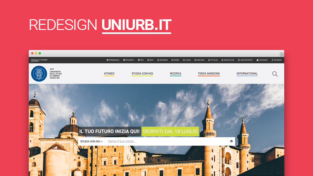 Think with Uniurb.it! È online il nuovo portale di Ateneo