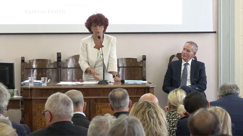 La Ministra Valeria Fedeli alla Carlo Bo