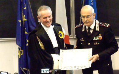 Il Sigillo dell'Università di Urbino al Comandante Generale dell'Arma dei Carabinieri Giovanni Nistri