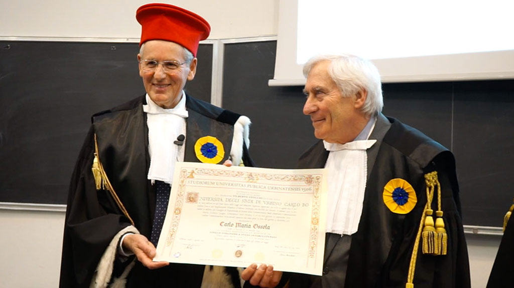 A Carlo Ossola la Laurea Honoris Causa in Lingue Straniere e Studi Interculturali