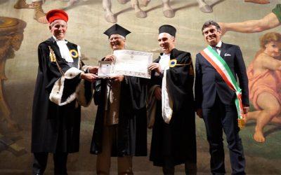 Il Sigillo di Ateneo al Premio Nobel per la Pace Muhammad Yunus