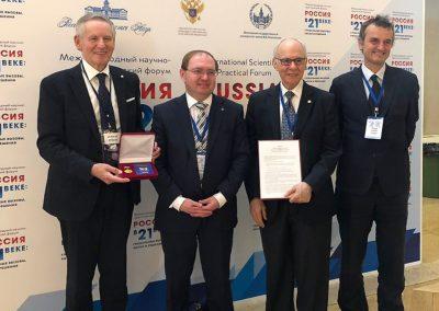 Il Rettore Vilberto Stocchi riceve la Medaglia no. 51 dell'Accademia russa delle scienze