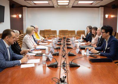 Il Rettore Vilberto Stocchi incontra la Senatrice Rimma Galushina