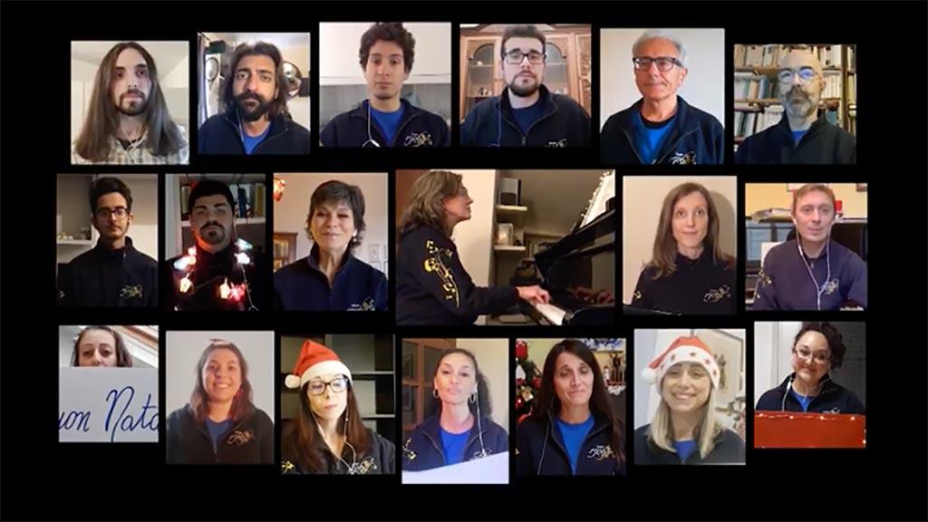 Gli auguri del Rettore sulle note di Natale del Coro 1506